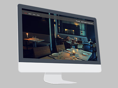 Apartment responsive portal on large screen